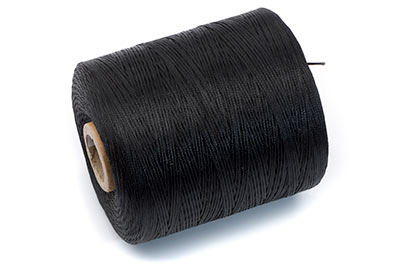 black polyester thread coil approx 730m x1pce