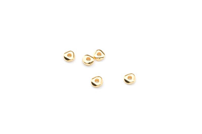 irregular spacer 2x5mm gold color x100pcs