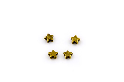 bead small star 7mm bronze x50pcs