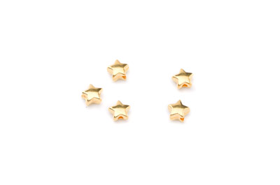 bead small star 7mm gold color x40pcs