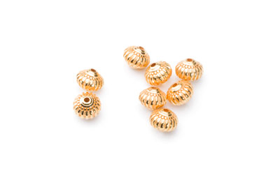 Bead 7x8mm gold x20pcs