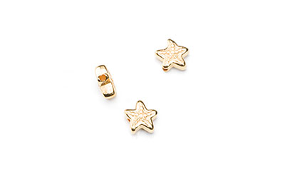 starfish bead 5 / 10mm gilded x16pcs