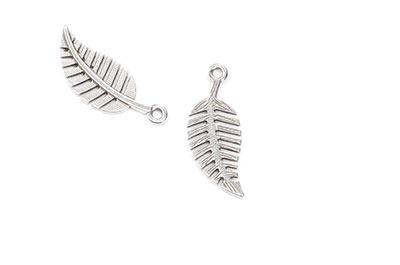 pendant leaf 27x12mm x12pcs