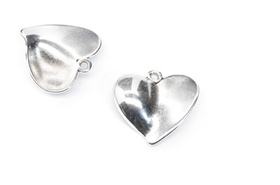 heart pendant 25x22mm x6pcs