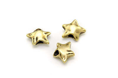 slider star 18mm bronze x20pcs