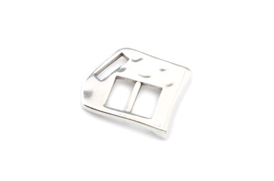 clasp slider hammered 29x23mm for 10mm flat leather x5pcs