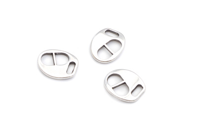 clasp oval 12x14mm for 5mm flat leather x20pcs