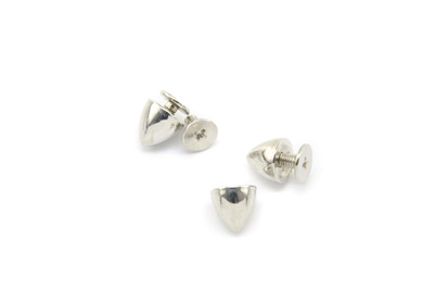 cone rivet with screw 8mm silver color x20pcs