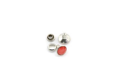 rivet à clipser 8mm rouge x100pcs