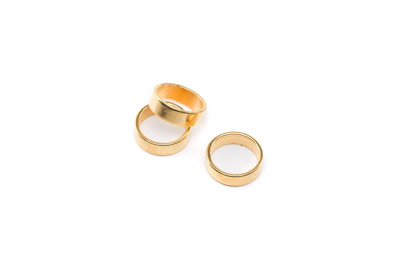 slider washer 4x12mm gold color for climb cord x20pcs