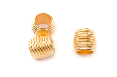 slider cambered tube 13x15mm gold color for 10mm climb cord x10p