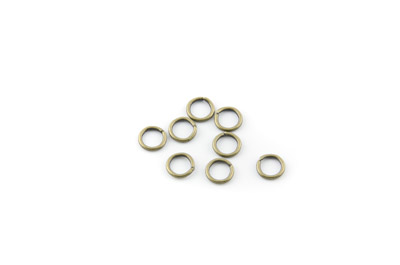 open jumpring 6mm bronze x500pcs