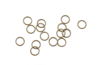 open jumpring flexible 8mm bronze 500pcs