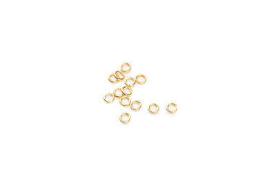 open jumpring 3mm gold color 500pcs
