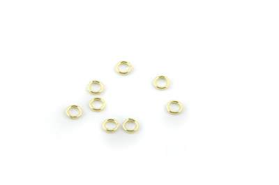 open jumpring 5mm gold color x500pcs