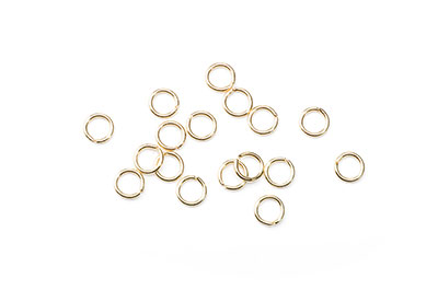 open jumpring 6mm gold color x500pcs