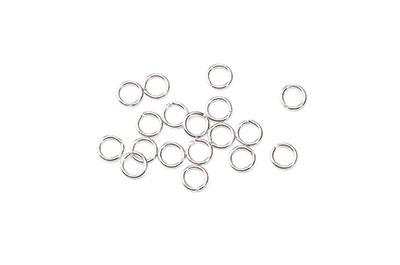 open jumpring 6mm nickel color 500 pieces