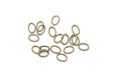 oval open jumpring 8mm bronze 500pcs