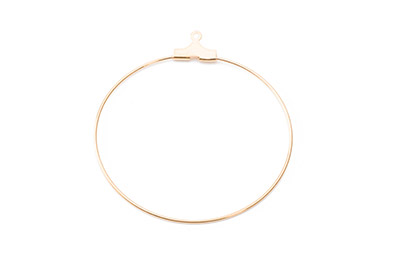 earring loop 40mm gold color x40pcs