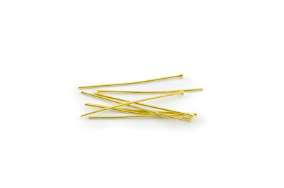 head pin 32mm gold color x500pcs