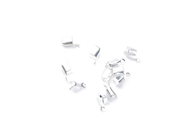 fold over crimp 5x2,5mm silver x200pcs