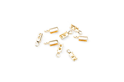 end clips 3mm gold Farbe x200pcs