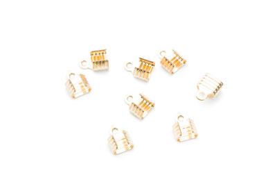 crimp cap 9x7mm gold x100pcs