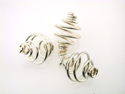 spiral 8mm silver color 100pcs