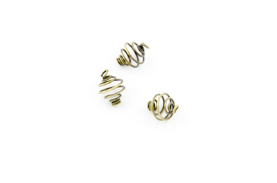 spiral 8mm bronze color 100pcs