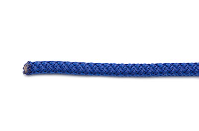 braided rope round 5mm blue  x10mtr