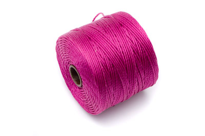 twisted nylon cord 0,6mm fuchsia x1 spool (approx 70m)