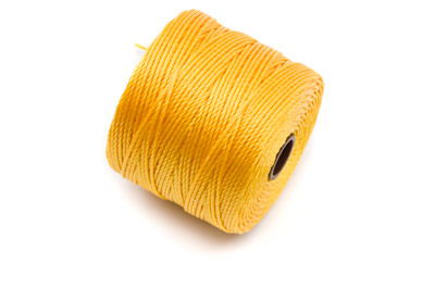 twisted nylon cord 0,6mm yelllow x1 spool (approx 70m)