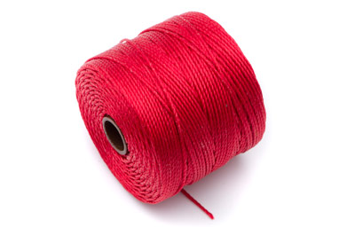 twisted nylon cord 0,6mm red x1 spool (approx 70m)