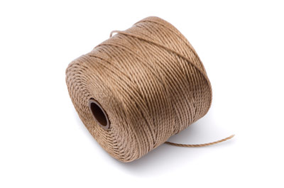 twisted nylon cord 0,6mm light brown x1 spool (approx 70m)