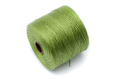 twisted nylon cord 0,6mm olive green x1 spool (approx 70m)