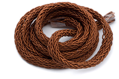 polyester braided cord 7x4mm terra cotta x1 spool (approx 10m)