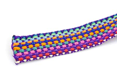 knit cord flat 20mm purple x3m