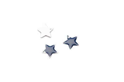 enameled star 12x12mm navy blue x50pcs