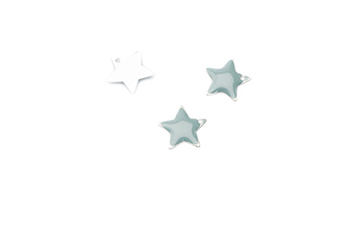 enameled star 12x12mm grey x50pcs