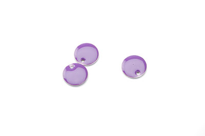 Sequin enamelled 10mm lilac x50pcs