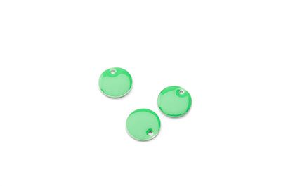 Sequin enamelled 10mm green apple x50pcs