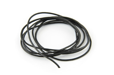 leather cord 1mm black x10m