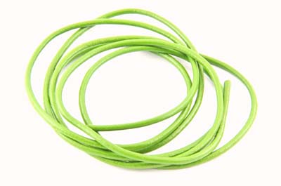 leather cord 2mm lime green x10m