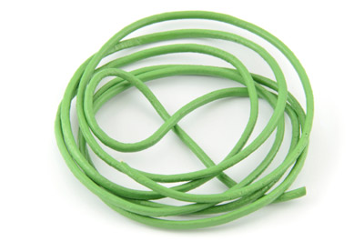 leather cord 2mm light green x10m