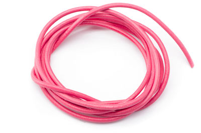 leather cord 2mm pink x10m