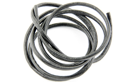 leather cord 3mm black x5m