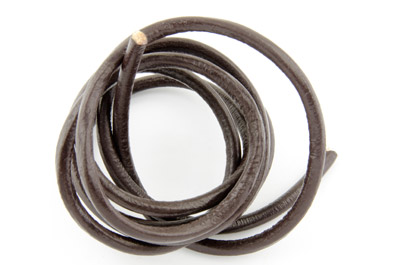 leather cord 4mm dark brown x5m
