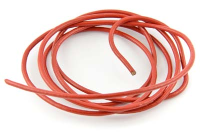 cordon de cuir 1.5mm rouge x10m