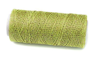 waxed polyester thread green gold 100m