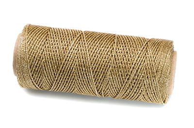 waxed polyester thread gold 100m